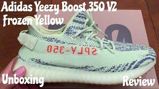 7335b90196aa5 Adidas Yeezy Boost 350 V2 Semi Frozen Yellow aka Yebra. Unboxing   Detailed  Review w