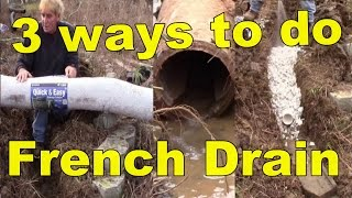 FRENCH DRAINS, Do They Really Work?