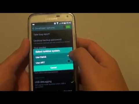 Samsung Galaxy S5: How to Change Runtime System to Dalvik or ART