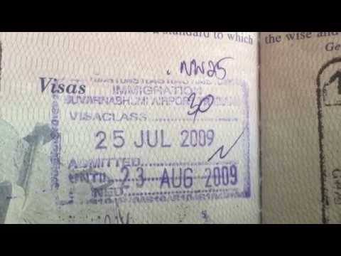 Passport stamp from Thailand