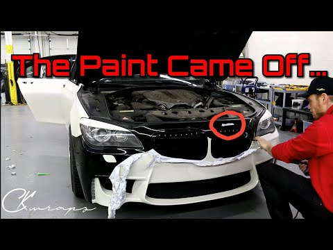 Why Did The Paint Come Off With The Wrap?? Removing Avery Vinyl Wrap From A Front Bumper