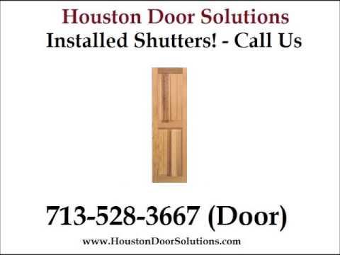 Exterior Bahama Shutters Installed Houston - 713-528-3667 (Door) - Houston Door Solutions