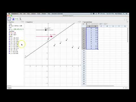 Geogebra Introduction 1 - Creating a set of points from a sp