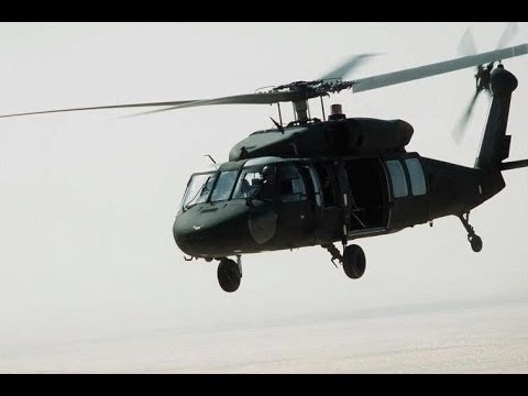 T.S.M.U. soldier being sent to combat on a UH-60 black hawk
