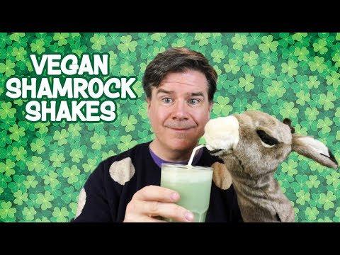 Vegan Shamrock Shakes:  3 Ingredient Recipes