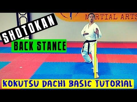How to do a Back Stance - Basic Shotokan Karate Kokutsu Dachi Tutorial