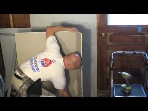How to QUICKLY cut drywall like a pro! -DIY Daddy