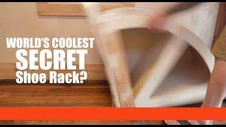 Coolest Shoe Rack Storage Closet Design Ever? (tiny House Ideas)