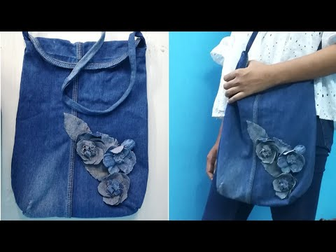 Old Jeans Reuse | Old Jeans Handbag | DIY Jeans Bag | OLd Jeans Recycling Idea