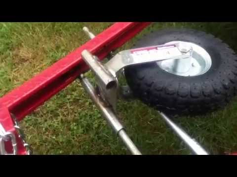 Front Caster Wheel for Harbor Freight Utility Trailer Fabrication