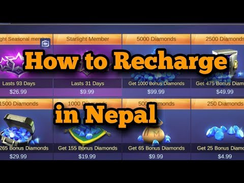 HOW TO BUY DIAMONDS IN MOBILE LEGEND NEPAL (2018)