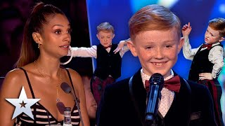 WOAH! 9-year-old dancer goes from sweet to SASSY!   Unforgettable Audition   Britain's Got Talent