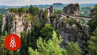 A View from Germany's Bastei Bridge