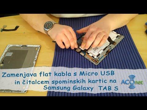 Zamenjava Micro USB flat kabla na Samsung Galaxy Tab S