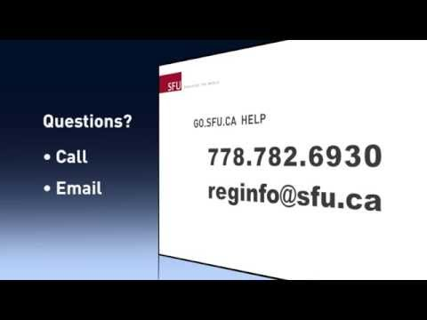 How to check your enrollment date -- SFU