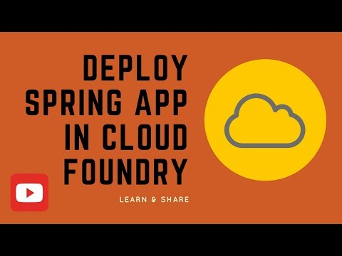 HOW TO DEPLOY SPRING BOOT APP IN CLOUD FOUNDRY DEMO
