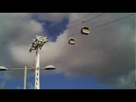 Cable Cars crossing the River Thames.