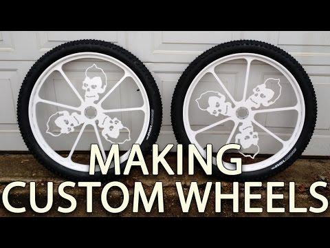 CUSTOM bicycle wheels - rims - how to Make wheels start to finish