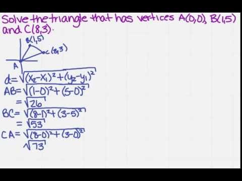 solve a triangle given three vertices
