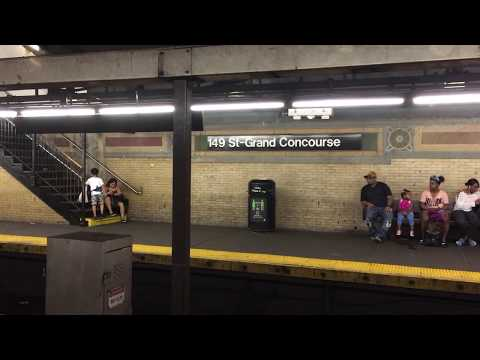IRT White Plains Road Line: Two Not in Service R62 (3) Trains Bypassing 149th Street-Grand Concourse
