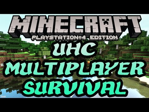 Minecraft PS4 UHC Multiplayer Survival #1 Edition Livestream (PS3,PS4,Xbox,Wii U)