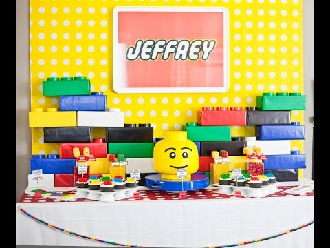 How to make 3D Lego Building Brick Props for a Lego or Building Brick Party
