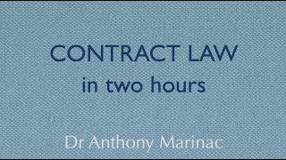 Download Contract Law in Two Hours Video