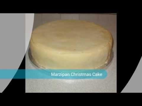 Easy Marzipan Christmas Cake