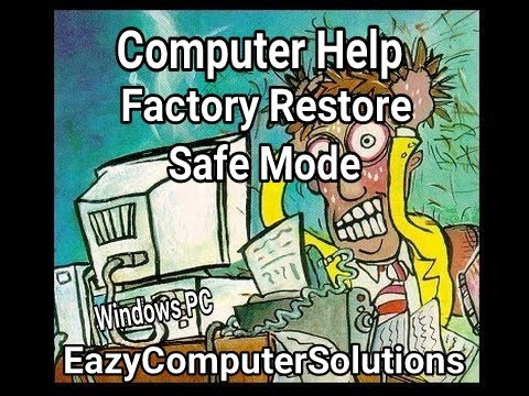 How To Restore Microsoft Windows 7 & Vista in Safe Mode:  GET HELP NOW!!!