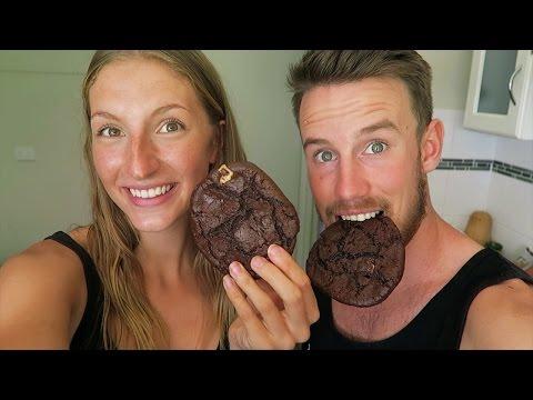 VEGAN DOUBLE CHOCOLATE CHIP COOKIES RECIPE | OIL FREE, GLUTEN FREE