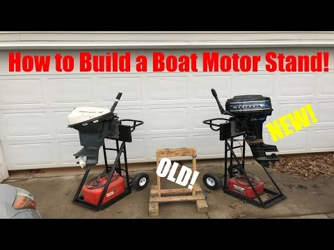 How to Build a Boat Motor Stand - Safe and Mobile!