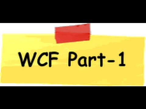 How to create the service using WCF - Part 1