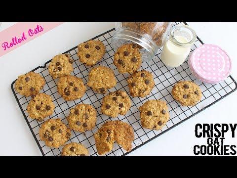 Crispy Oatmeal Cookies Recipe | Healthy Cookies | Rolled Oats Recipe