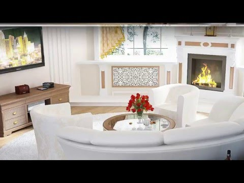 Living room with fireplace- Top 30 design ideas 2016.