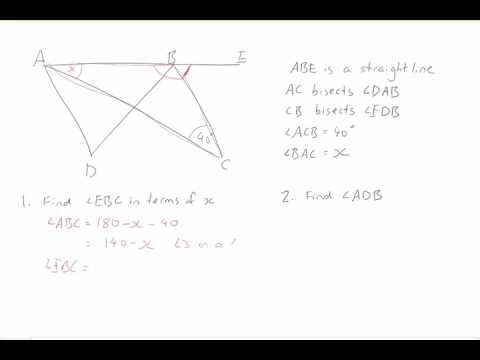Geometry: using variables to solve a problem