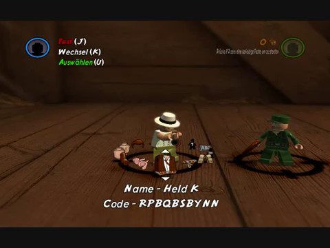 Lego Indiana Jones 2 - Character Editor