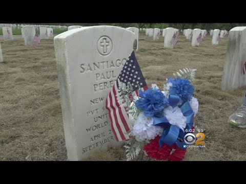 CBS2 Tags Along With Siblings Paying Respects To Fallen Heroes At Long Island National Cemetery