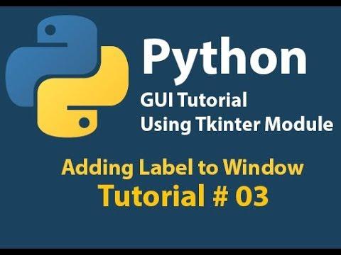 Python GUI: Adding label to window using Tkinter Tutorial# 3