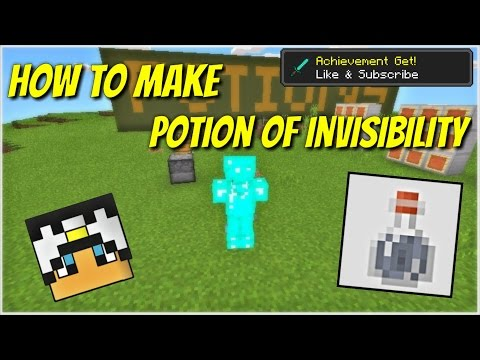 MCPE 1.0.7 || How to Make POTION OF INVISIBILITY || Minecraft PE 1.0.7