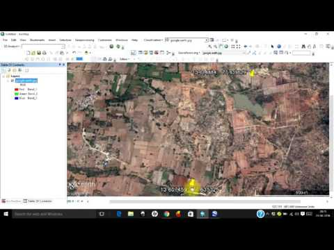 Easiest Method to Download and Georeference Google Earth Image