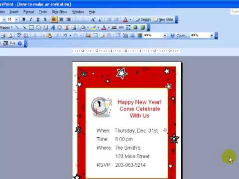 Design Invitations In PowerPoint