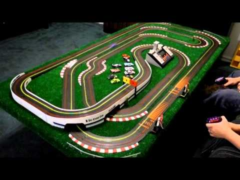 Wizzard Storm HO scale slot cars 40ft in 3.5 seconds.