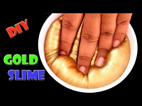 Gold Slime Recipe | Metallic Slime | Indian Slime without Borax | Little Crafties