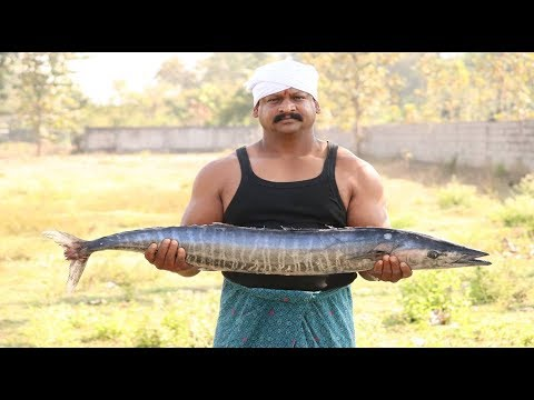 Seer Fish Fry Prepared By GYM SAKTHI For Needy People| Vanjaram Fish Fry | Village Huge Food Factory