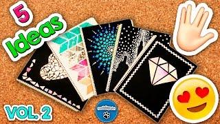 Diy | 5 Ideas Para Forrar Y Decorar Tus Cuadernos Vol.  2 | ¡regreso A Clases! | Pumitanegraart🐾