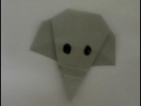 Origami Elephant face