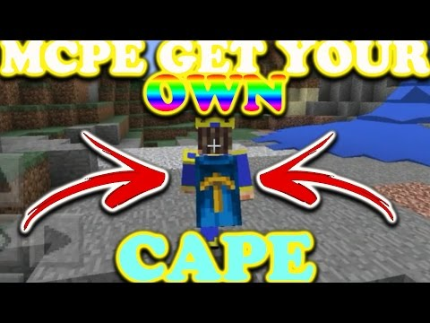Mcpe 1.0.0 How To Get A Cape On Your Custom Skin//0.17.0//Working!!!