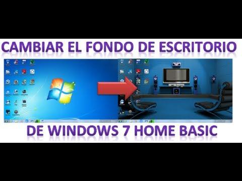 Cambiar el Fondo de Escritorio en Windows7 Home basic (Sin programas) 2014