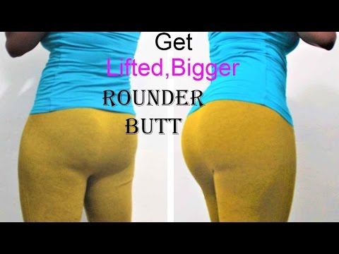 how to get a lifted, round & bigger bum | 4 exercises to lift and round buttocks | butt lift workout