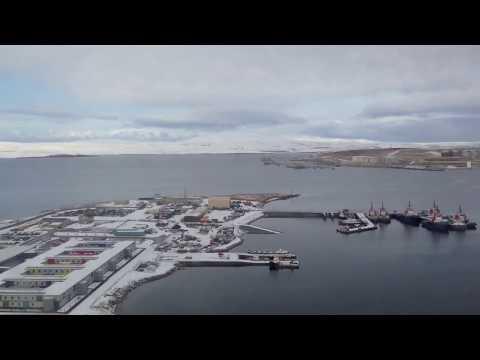 Landing in Scatsta (SCS), Shetland